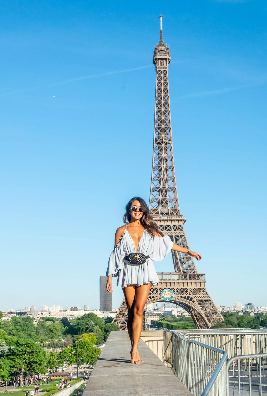 Marcy Yu Eiffel Tower Paris France Roland Garros